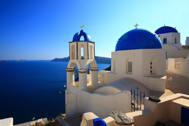 Place Of Worship Blue Architecture Built Structure No People Sea Clear Sky Building Exterior Dome Tourism