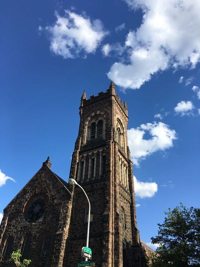 21st & Christian Streets Church Tower Church Exterior Built Structure Sky Architecture Low Angle View Building Exterior Cloud - Sky Building Tower The Past History Tall - High Religion No People The Architect - 2018 EyeEm Awards