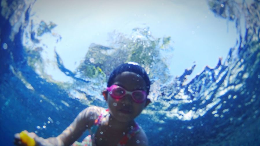 One Person Real People Sky Swimming Goggles Swimming Childhood Underwater Outdoors Day Travel Destinations Underwater Photography Pool Child Funny Fun Thailand Art Is Everywhere