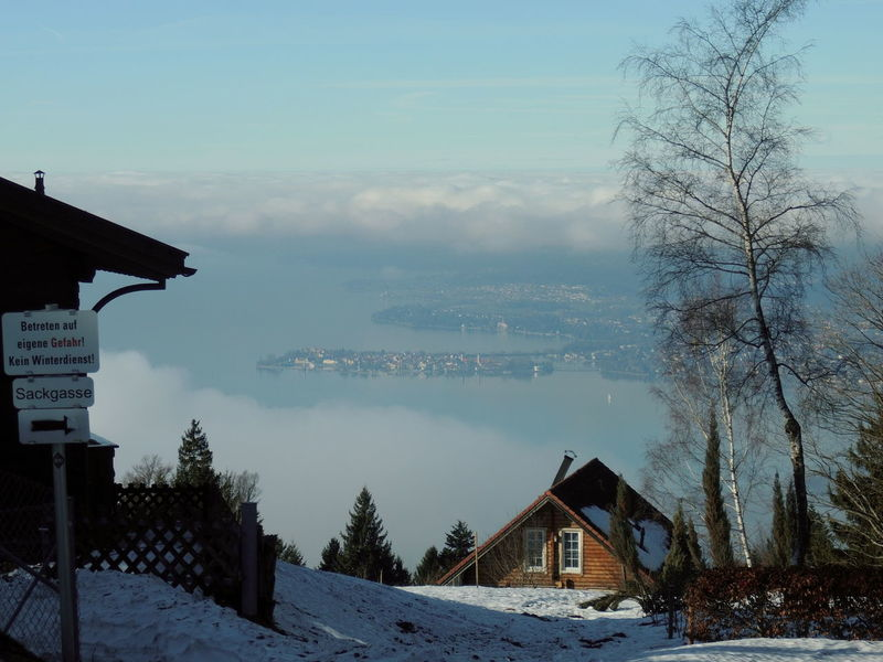 January 2018 Lindau Bodensee Clouds And Sky Day Island Lake Of Constance Germany Nature No People Outdoors Pfänder Sky Snow Winter