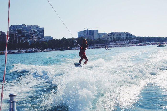 Wakeboarding Wakeboard Sea Russia Russian Girl Boat