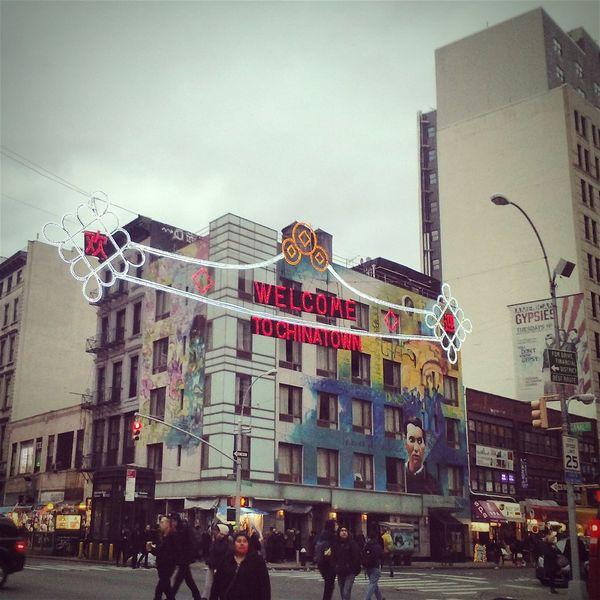 Chinatown New York Chinatown City Street United States