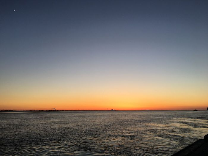 Sunset Sea Beauty In Nature Water Clear Sky Horizon Over Water No People Bremerhaven