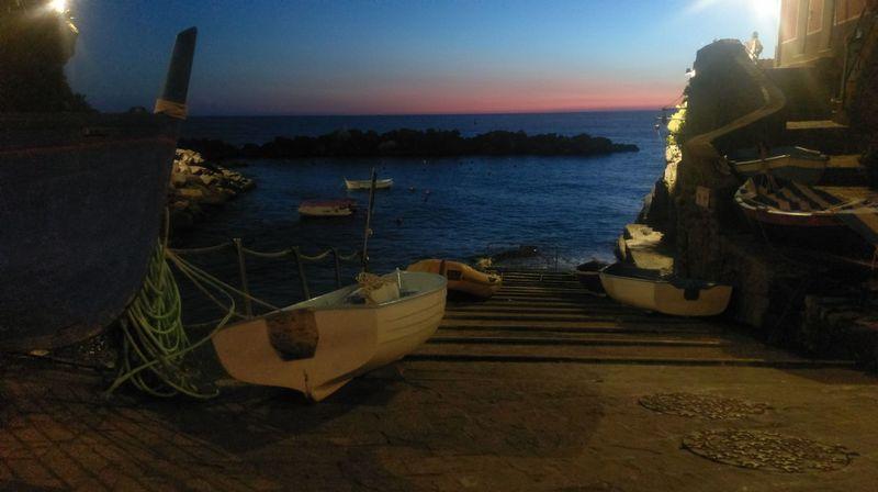 Cinque terre Sea Sunset Sky Night Scenics Cinque Terre Cinqueterre Cinque Terre Boat Riomaggiore Liguria Liguria,Italy Italy Italia Boats EyeEmNewHere Miles Away The City Light