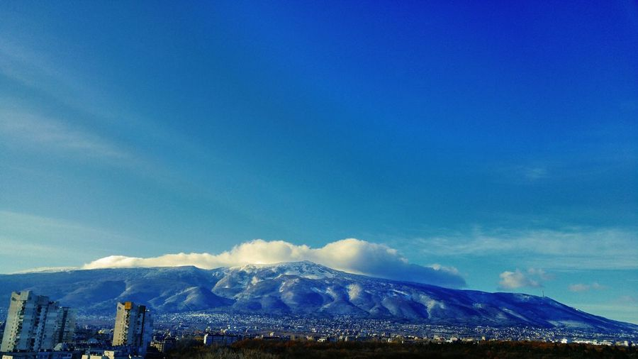 Blue Low Angle View Sky Day Nature Architecture Beauty In Nature Mountains And Clouds Sofia, Bulgaria Mountain Top Mountains And Sky Mountain View Mountain Range Snow❄⛄ Snow ❄ Cold Temperature Nature Colors Mountain Blue Sky Blue Sky And Clouds Blue And White Mountain_collection Mountainview Bestcityview