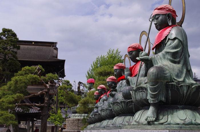 The Ksitigarbhas Japan Japanese Temple Jizou Ksitigarbha Temple