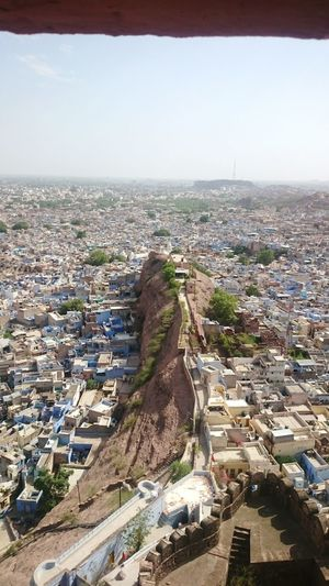 Jodhpur India Top View From Mehrangarh Fort Pachatiya Mountain