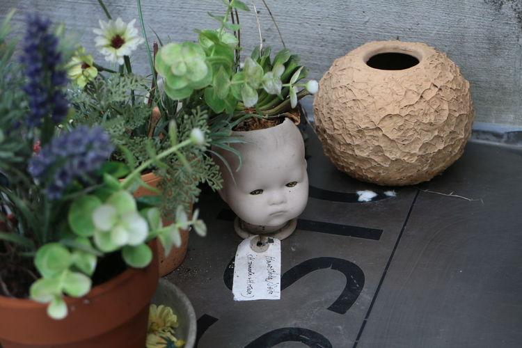 Ceramic Art Craft Creativity Flower Freshness Fukuoka City  No People Some Place 우관호선생님 작품같은 아이. 일본 주택가에서.