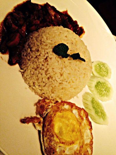 Chicken BBQ Rice OldTownWhiteCoffee TamanAnggrek Dinner