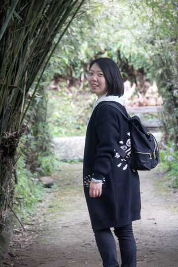 Real People Tree One Person Bamboo Forest 婺源