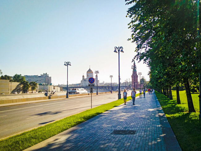 Day City Moscow City Moscow Russia Roads Highway Cathedral Of Christ The Savior River Clear Sky City Sky