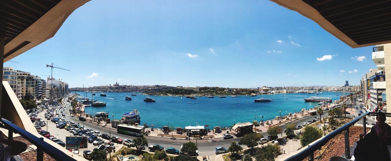 Sliema Malta Water Sky Transportation Architecture Sea Built Structure Nautical Vessel