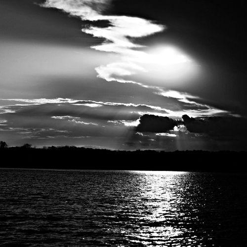 Sunset Blackandwhite Photo Enjoying Life
