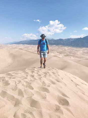 One Person Sand Sky Full Length Nature Lifestyles Day Sand Dune Outdoors Beauty In Nature Adult People The Week On EyeEm