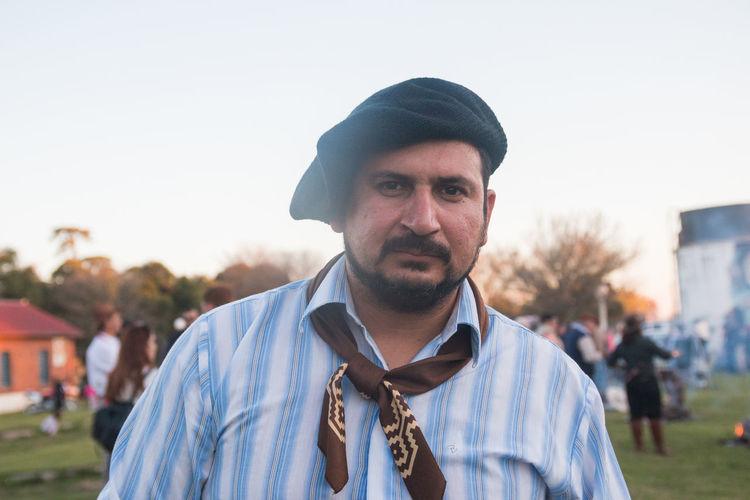 Portrait of argentinian gaucho traditional man