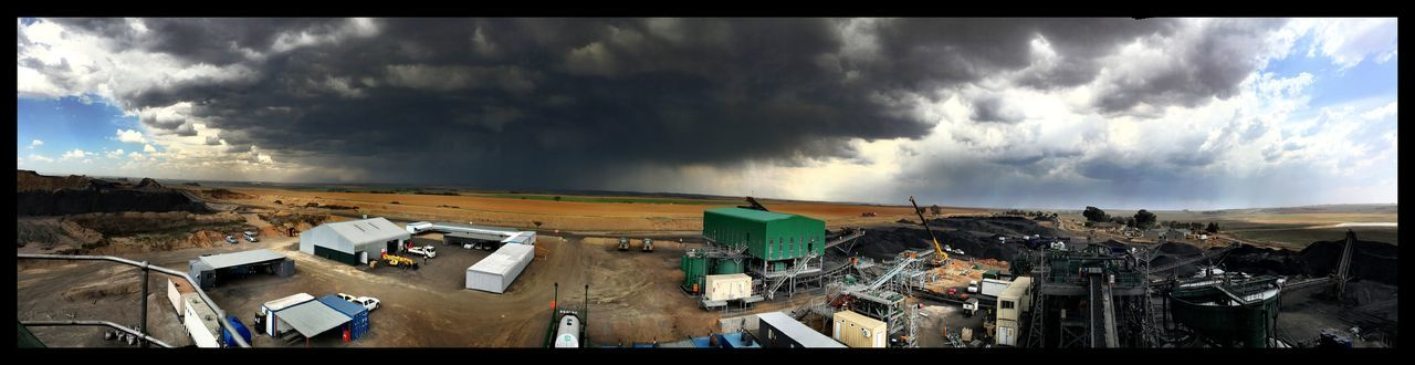 Small litte Rain Stormy Weather Clouds Panoramic Photography in Mpumalanga
