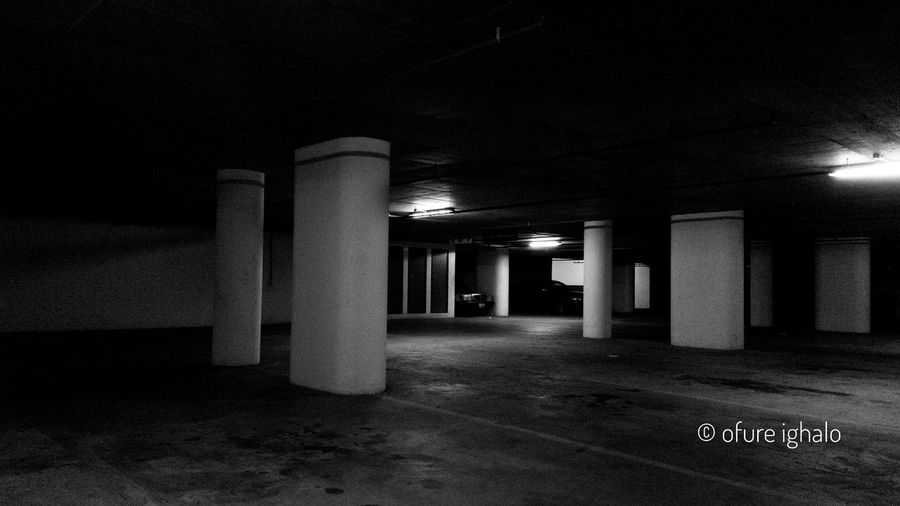Monochrome Parking Lot Blackandwhite