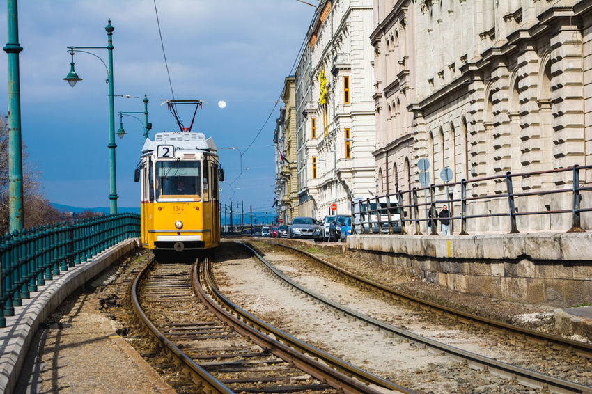 Tramway Budapest Colors Citylife Beautiful Railroad Track