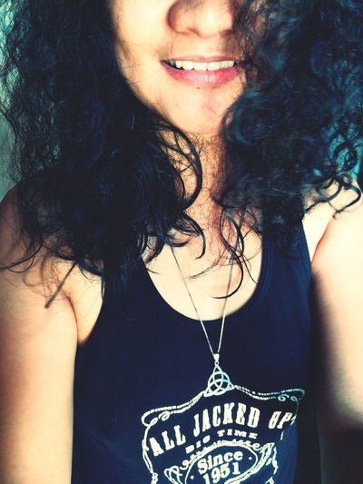curly hair. don't care. 💪✨ One Woman Only Curlyhair Necklace Portrait Adult One Person Close-up People Only Women EyeEm Best Shots PhonePhotography Eyeem Philippines Huaweigr52017 EyeEm Gallery Curly Hair Don't Care Curly Curls Triquetra Blackhair Curlyblackhair Eyeem Market Philippines