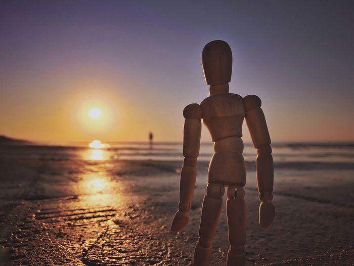 Legendary beach of Jurmala Beach Sea Sunset Shirtless Sand Horizon Over Water Water Nature Sun Beauty In Nature Vacations Sky Summer Scenics One Person Sunlight Full Length Outdoors Creativity Woodyforest Jurmala Travel Destinations Be. Ready.