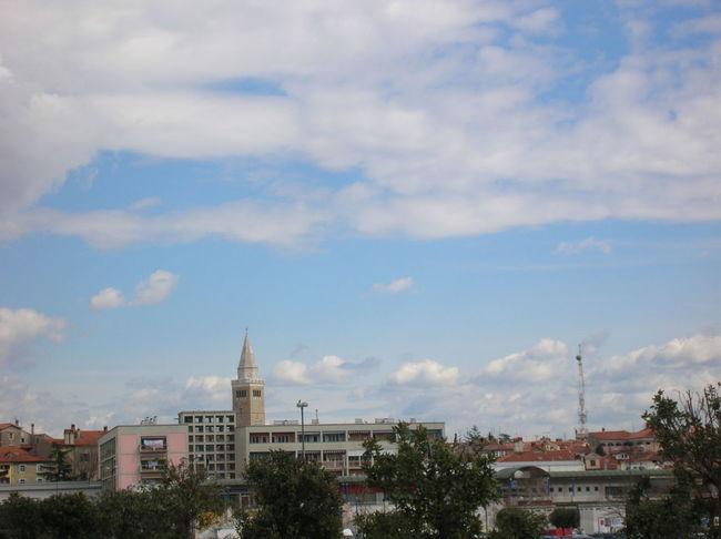 Vista di Capodistria, aprile 2008 City Day Panorama Sky And Clouds Springtime Tower Trees