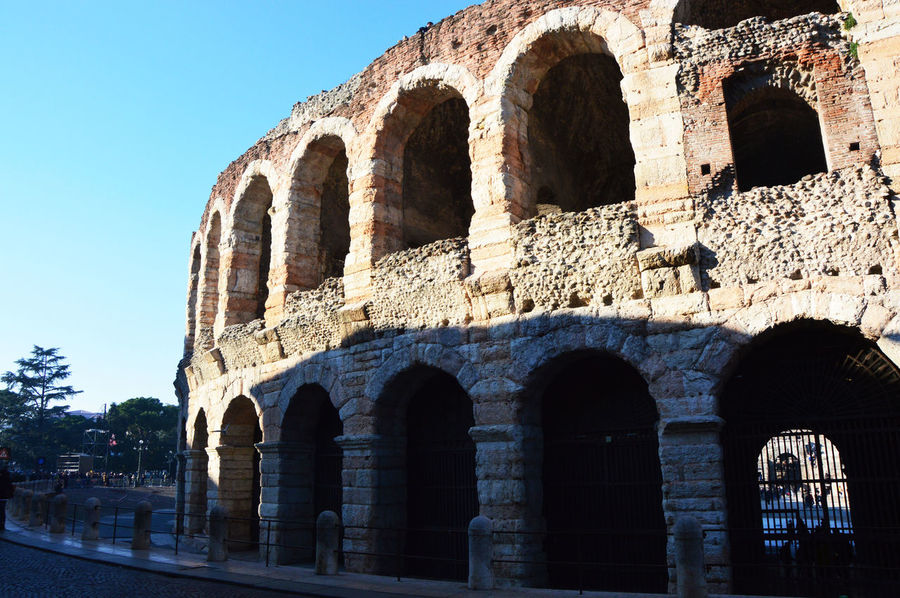 Ancient Anphitheater Arch Architectural Column Architecture Arena Arena Verona Blue Building Exterior Built Structure Clear Sky Day History Italia Italian Italy Italy❤️ Italy🇮🇹 No People Outdoors Sky Sunlight Travel Destinations Verona Verona Arena
