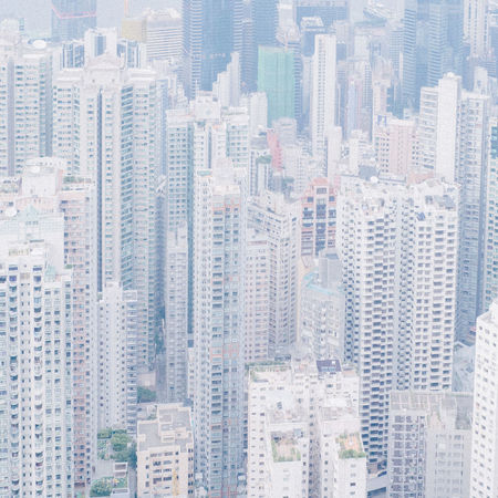 Aerial View Architecture HongKong Pattern Perspective Textured  Top Perspective Pmg_hok