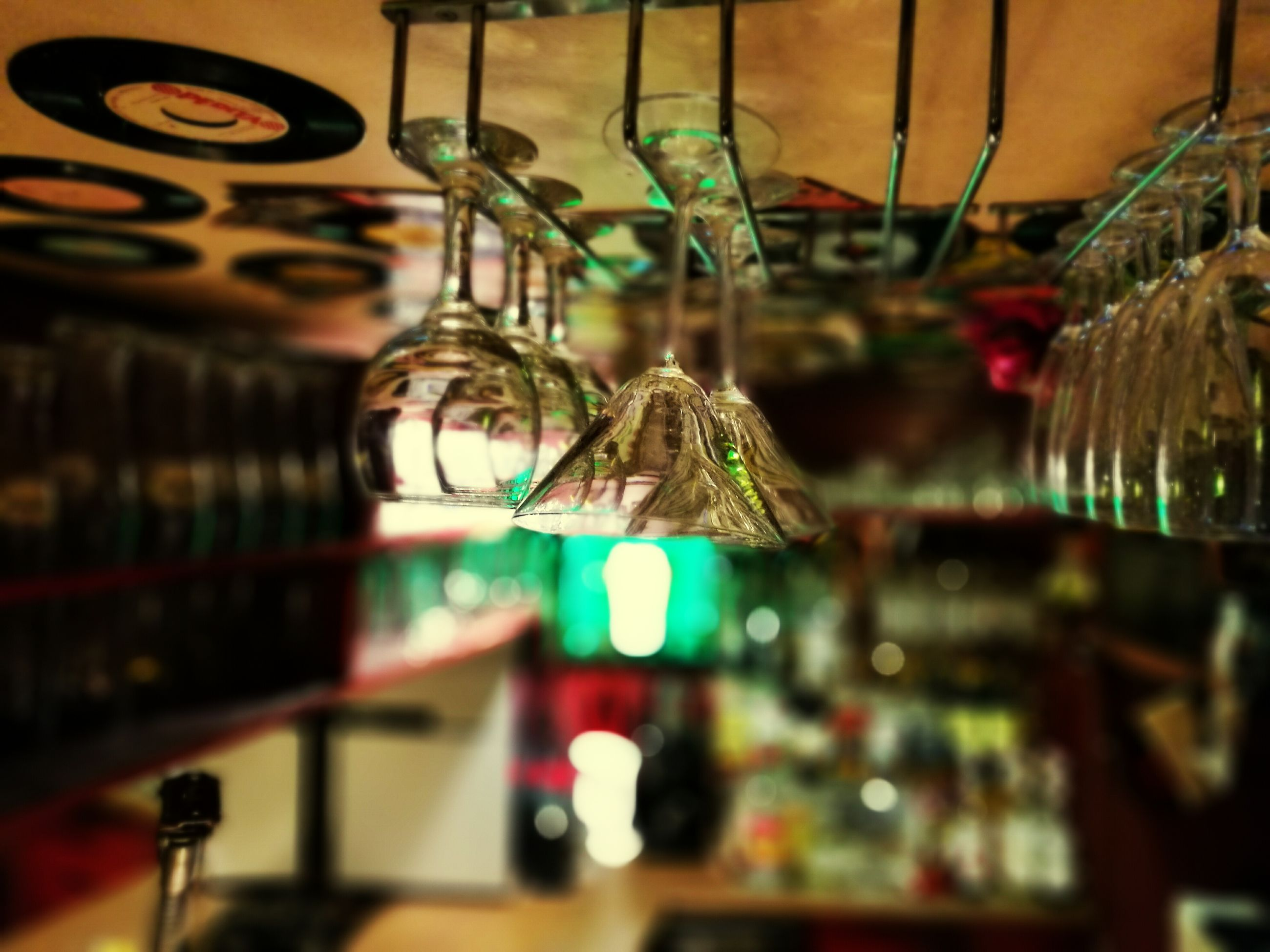 indoors, close-up, selective focus, hanging, decoration, decor, multi colored, illuminated, no people, focus on foreground, full frame, christmas ornament, man made object