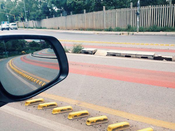 Johannesburg, 2015 Johannesburg South Africa Just Around The Corner POV Car Mirror