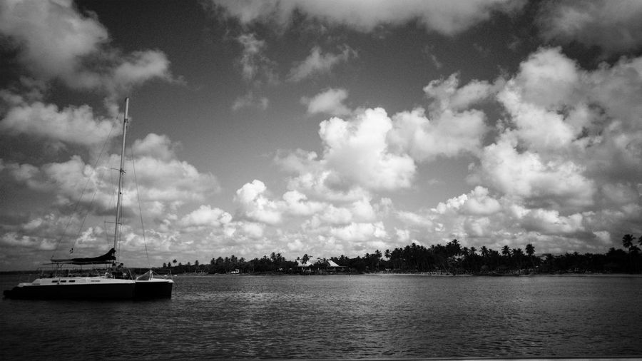 Monochrome Photography Seascape Water Nautical Vessel Tranquility Tourism Beauty In Nature Outdoors Sky Scenics Sea