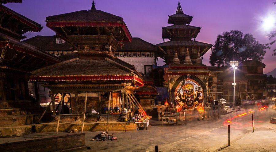 Evening Shot Basantapur Durbar Square Streetphotography Long Exposure World Heritage Site