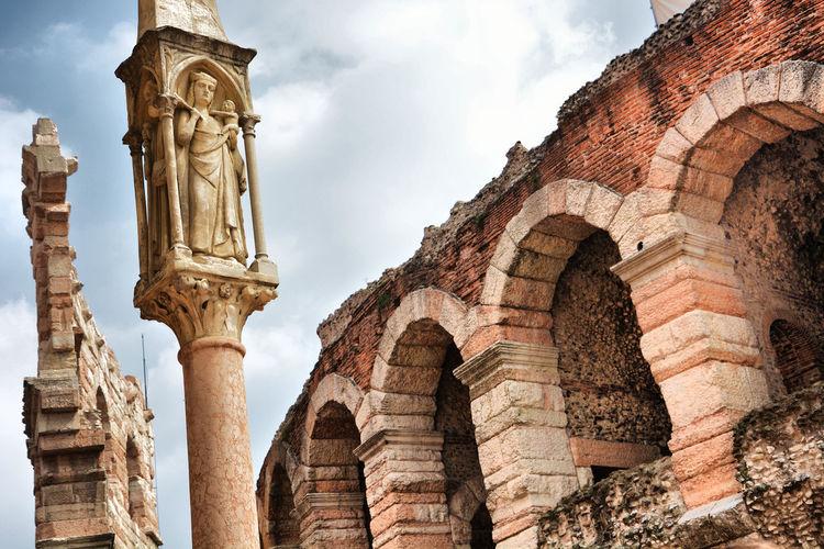 Nikon OpenEdit Italy Italia Verona Italy Verona La Arena Europe Travel Destinations Travel Photography Ancient Civilization City Architectural Column Ancient History