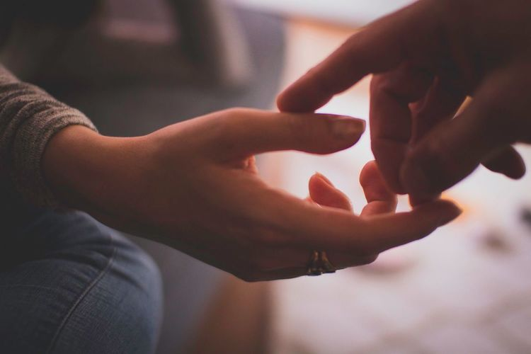 Touch Nurture  Tenderness Couple Beauty Love Hand Human Hand Real People Human Body Part Close-up Focus On Foreground Holding Finger Human Finger Lifestyles Body Part Adult Women Men Selective Focus