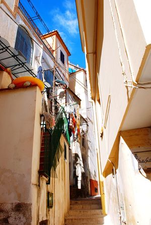 Amalfi Coast Italy Narrow Streets Narrow Street Italian House Italian Village  Italian Lifestyle Italian Architecture Cetara Sky Hanging Clothes House Houses Building Colorfull Colorful