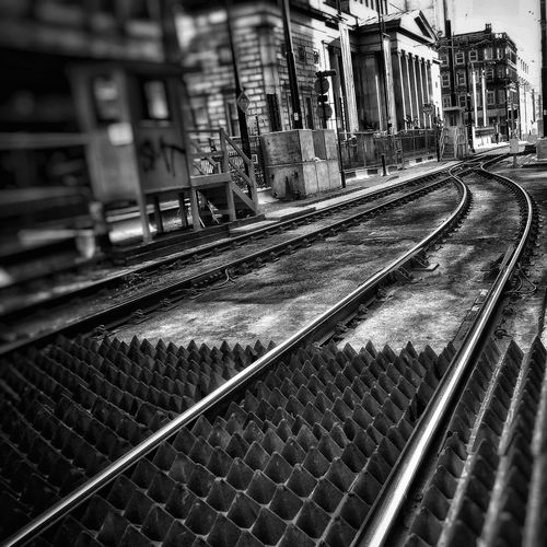 New tram lines being put down on Mosley Street Manchester last year Architecture Built Structure Transportation Outdoors Public Transportation No People Close-up Creative Light And Shadow Fujifilm Malephotographerofthemonth Tramlines Streets Of Manchester Blackandwhite Photography Monochrome Photography Black And White Photography Black And White Collection  Bnw_captures Manchester UK Buildings Architecture