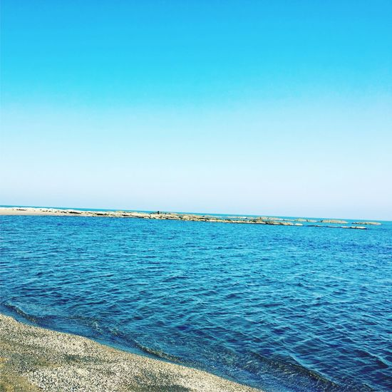 Sea Blue Clear Sky Beach Water Beauty In Nature No People Sky Nature