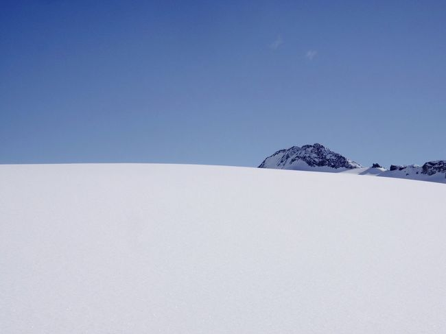 Silence Mountains And Sky Switzerland Minimalism Snow Cold Temperature Winter Copy Space No People Tranquility Outdoors Nature Day Blue Polar Climate Beauty In Nature Clear Sky Sky