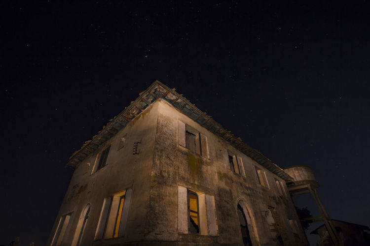 Architecture Astronomy Building Building Exterior Built Structure Galaxy History Illuminated Low Angle View Moonlight Nature Night No People Old Outdoors Sky Space Space And Astronomy Star Star - Space Star Field The Past Window