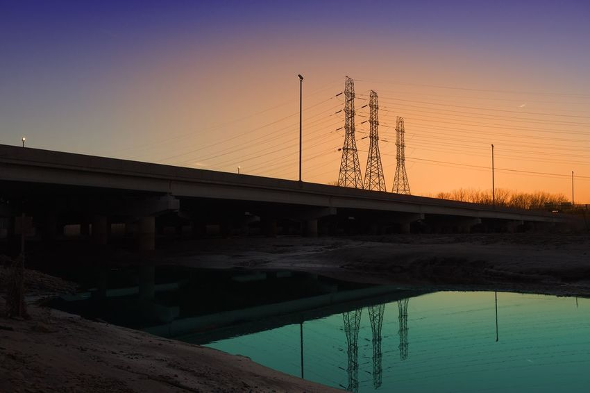 Sunday Marshin. Martian. Old Photo, new edit. Connection Sunset Electricity Pylon No People Electricity  Built Structure Cable Nature Technology Fuel And Power Generation Outdoors