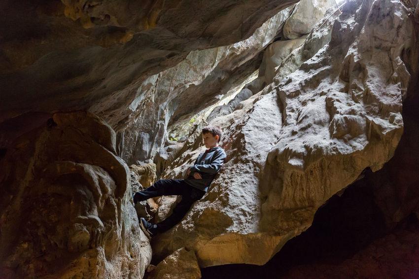 Little Cave Explorer Adventure Beauty In Nature Cave Climbing Nature Outdoors Rock Rock Climbing