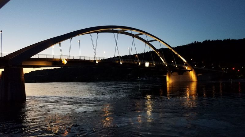Water Arts Culture And Entertainment No People Sunset Outdoors Night Ridge River Reflection Arched Illuminated