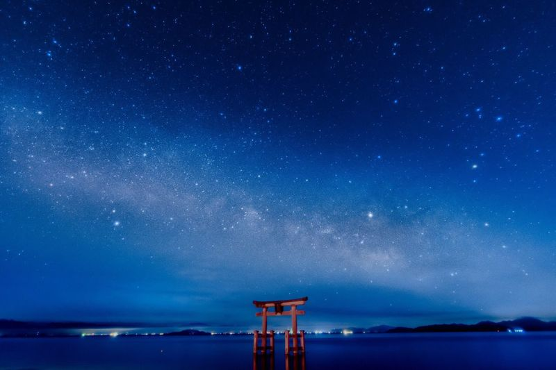 """"""" Milky way """" Sky Night Star - Space Tranquility Tranquil Scene Nature Scenics Beauty In Nature Sea No People Outdoors Water Galaxy Star Field Astronomy Milky Way Lake Japanese Shrine Japan Photography Nikon Nikon D7200 Nikonphotography EyeEmNewHere EyeEm Nature Lover Sky_collection"""
