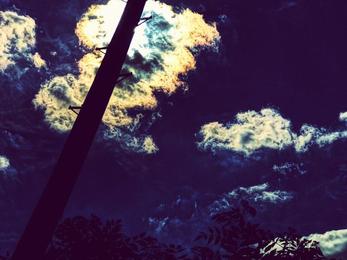 A capture worth taking. Low Angle View No People Sky Beauty In Nature Tranquility Outdoors Astronomy Eyeem Market Art Is Everywhere EyeEmNewHere EyeEm Best Shots EyeEmBestPics See The World Through My Eyes Exceptional Photographs Cloud Formations Silhouette Beauty In Nature Telegraph Pole Bush Popular Photos Peace And Quiet