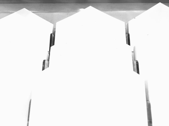 Black and white EyeEm Selects No People White Color Built Structure Architecture Day Copy Space Winter Indoors  Safety Nature Snow Security Communication Cold Temperature Protection Hanging Wall - Building Feature Sunlight Snowing