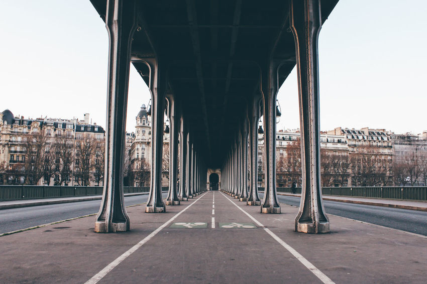 Architecture Bridge - Man Made Structure Built Structure City Cityscape Connection Day Eye4photography  EyeEm Best Edits EyeEm Best Shots EyeEm Gallery EyeEmBestPics France Horizontal No People Outdoors Paris Road Sky Strength Travel Destinations Traveling Tree Fresh On Market 2016