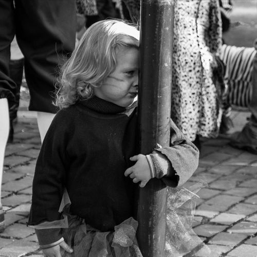 Carnaval Brabant Tilburg Streetphoto_bw Shygirl Hide And Seek Blackandwhitephotography Kids Being Kids Children Streetphotography