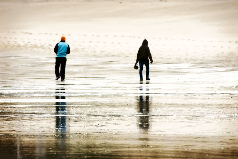 boy and girl unfocused walking separated by the sea shore Adult Adults Only Anger Angry Beach Beach Photography Couple Divorce Lifestyles Men Nature Outdoors Real People Rear View Sand Separation Two People Unfocused Background Unfocused Couple Unfocused People Walking Water