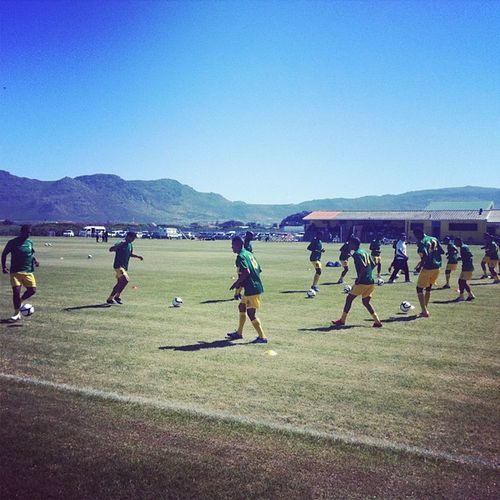 Milano UTD warming up for the Derby against Vasco Capetown Soccer Matchdat