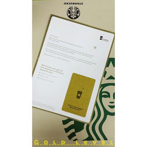 "Just Got It ""Gold Level Card"" Starbucks Starbucksthailand Goldlevel"