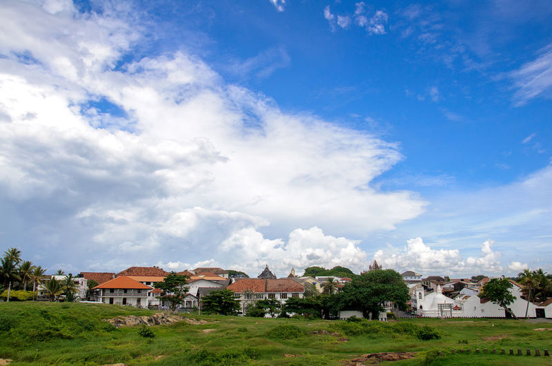 Galle City, Sri Lanka Architecture Beauty In Nature Blue Sky With White Clouds Building Exterior Cloud - Sky Day Galle City Galle Cityscape Galle Sri Lanka House Nature Outdoors Residential Building Sir Lanka Sky